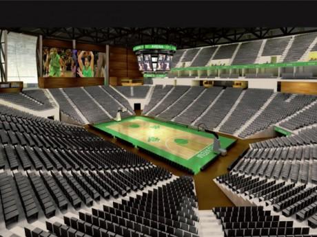 Image de synthèse du projet initial d'ASVEL Arena - DR