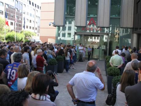 Les salariés d'Areva Lyon ce mardi - LyonMag
