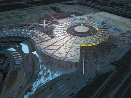 Le futur Terminal 1 de l'aéroport - DR Aéroports de Lyon, Olivier Chassignole