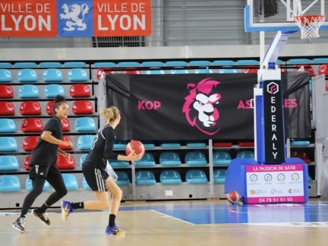 Les basketteuses lyonnaises à l'entraînement vendredi dernier - LyonMag
