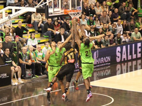 L'ASVEL, ici à l'Astroballe, face à Nancy, en Pro A - Photo Lyonmag.com