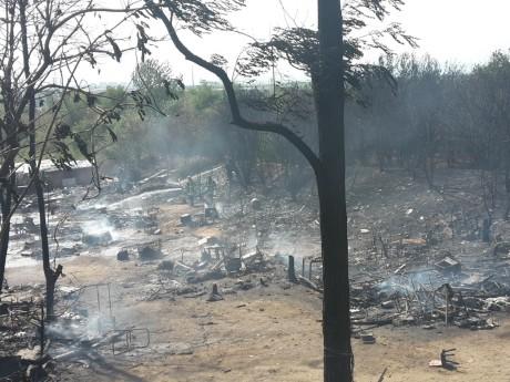 Le campement a été détruit en partie - LyonMag