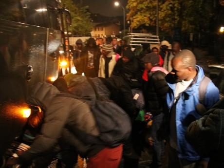 Les migrants sont arrivés à Villeurbanne dans la soirée - LyonMag