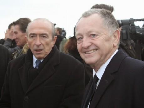Gérard Collomb, ici avec Jean-Michel Aulas - LyonMag
