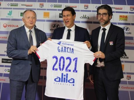 Jean-Michel Aulas, Rudi Garcia et Juninho - LyonMag