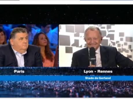 Pierre Ménes et Jean-Michel Aulas au CFC - DR Capture d'écran Canal +