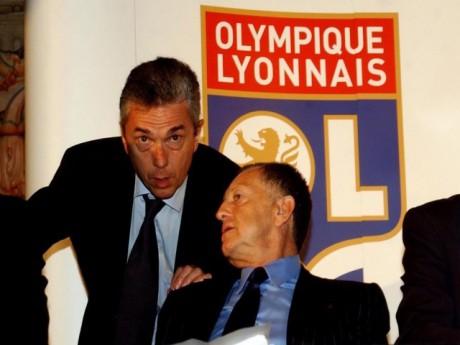 Olivier Blanc, ici avec Jean-Michel Aulas - DR Foot01