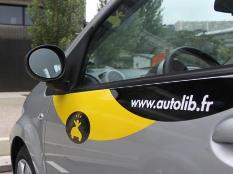 Une voiture Autolib' à Lyon - Photo Lyonmag.com