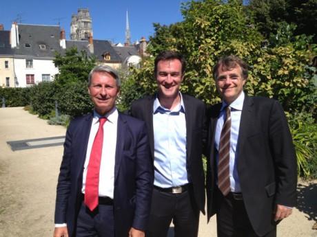 Michel Havard en compagnie de Florent Montillot et Serge Grouard - DR