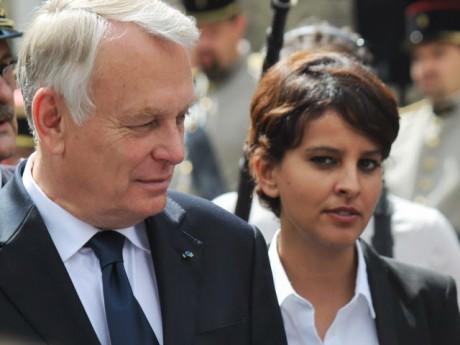 Najat Vallaud-Belkacem, aux côtés du Premier ministre - LyonMag