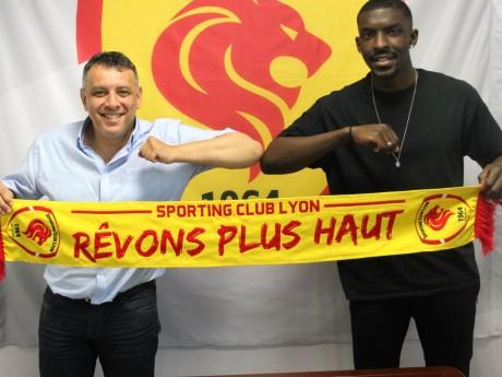 Mohamed Tria, Président du SC Lyon, et Bryan Ngwabije - Thomas Hernu/Sporting Club de Lyon