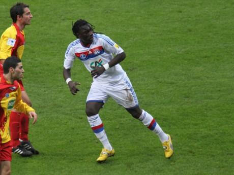 Gomis, ici contre La Duchère, souffre du genou - Photo LyonMag