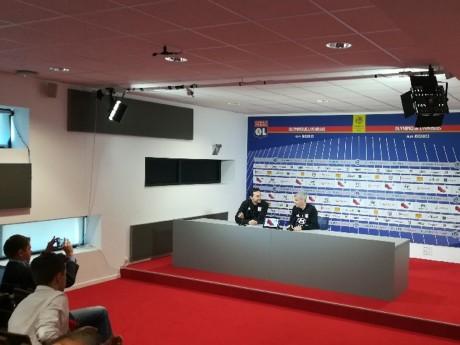 Christophe Baudot aux côtés de Bruno Genesio en conférence de presse - Lyonmag.com