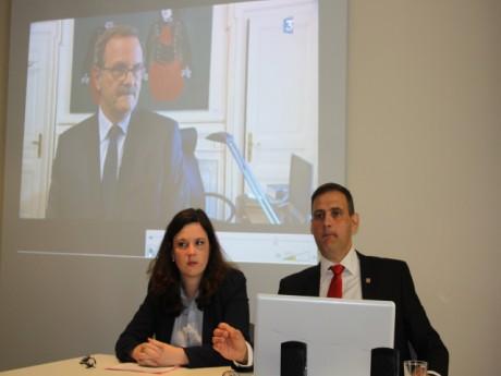 Laura Lussaud, du CLAN et Yvan Benedetti, président de l'Oeuvre Française - LyonMag