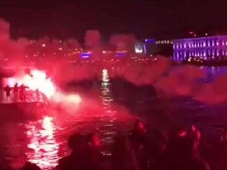 Les supporters Turcs réveillent les Lyonnais - DR