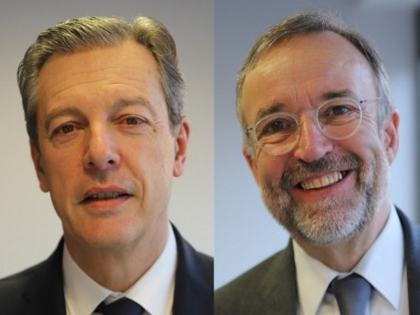 Pascal Blache et Etienne Blanc - Montage LyonMag