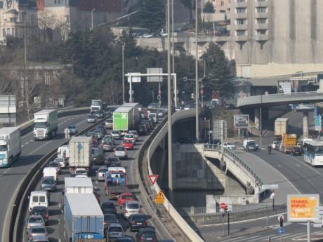 Une trentaine de kilomètres de bouchon ont été comptabilisés dans l'agglomération vendredi soir - LyonMag.com