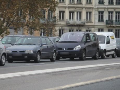 Embouteillage à Lyon - Photo Lyonmag.com