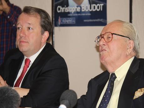 Christophe Boudot et Jean-Marie Le Pen - LyonMag