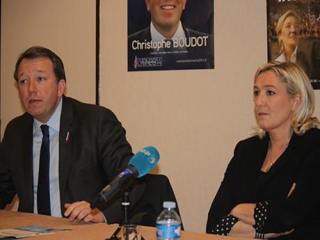 Christophe Boudot et Marine Le Pen - LyonMag