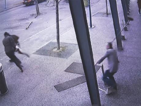 La scène a été filmée par la vidéosurveillance - DR