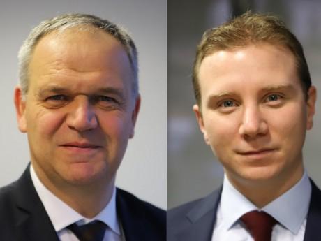 François-Noël Buffet et Alexandre Vincendet - Montage LyonMag