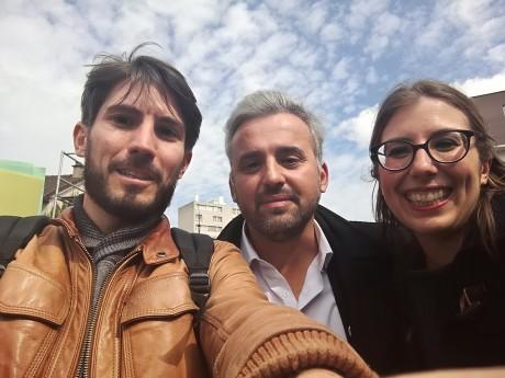 Laurent Legendre, ici avec Alexis Corbière et sa suppléante Céline Fratczak - DR
