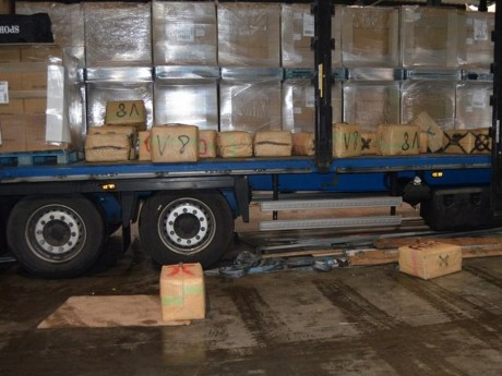 L'un des camions interceptés - DR Police judiciaire de Valence