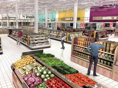 Carrefour ouvrira le 10 octobre au Carré de Soie - DR