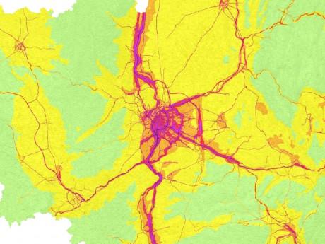 A Lyon, on est plus exposé aux nuisances air et bruit - DR
