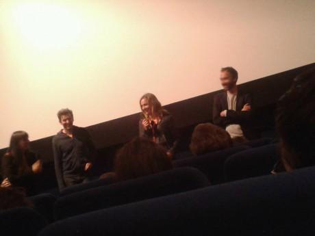 Cécile de France, entourée d'Emmanuel Daumas et Grégoire Monsaingeon, lors de la projection d'Anna - Lyonmag