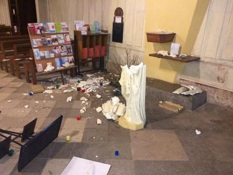 Les dégradations à Saint-Pothin en mars dernier - DR