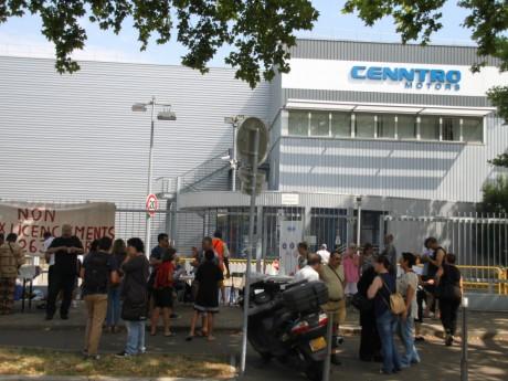 Le rassemblement des salariés de Cenntro Motors - LyonMag.com