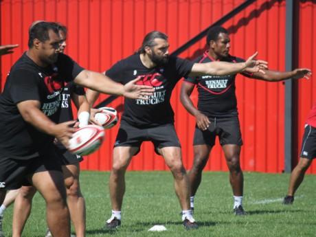 Sébastien Chabal et ses coéquipiers du LOU Rugby - Photo Lyonmag.com