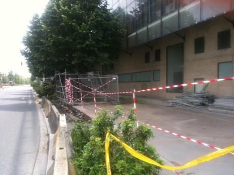 Le lieu de l'accident avenue Tony-Garnier - LyonMag
