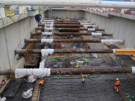 Le chantier du prolongement du métro B - Lyonmag.com