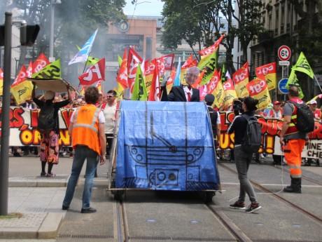 Les cheminots lors du rassemblement du 18 juin - LyonMag