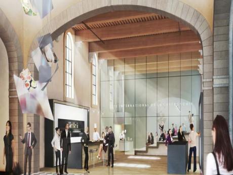 La seule ébauche à ce jour de la future Cité de la Gastronomie à Lyon - DR ASYLUM