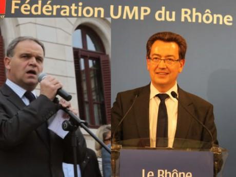 François-Noël Buffet et Philippe Cochet - Montage LyonMag