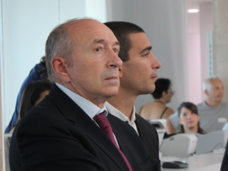 Gérard Collomb et Yann Cucherat - Lyonmag.com