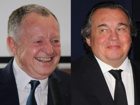Jean-Michel Aulas et Olivier Ginon - Montage LyonMag