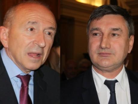 Gérard Collomb (PS) et Christophe Guilloteau (UMP) - LyonMag