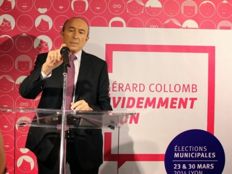 Gérard Collomb lors de l'inauguration de son local de campagne - LyonMag