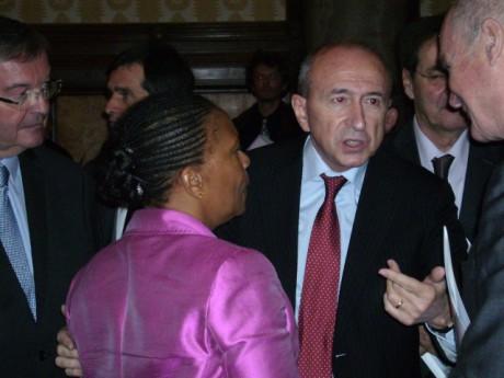 Gérard Collomb et Christiane Taubira - LyonMag