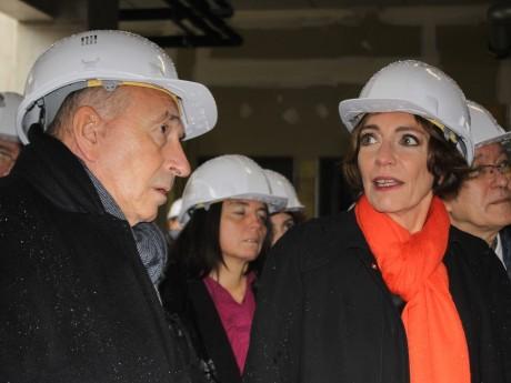 Gérard Collomb, Sénateur-Maire de Lyon  - Marisol Touraine, Ministre des affaires sociales et de la Santé