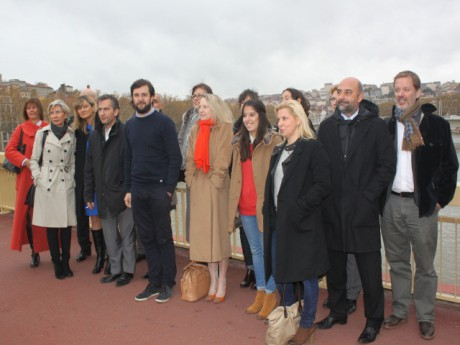 Les 20 premiers soutiens de Gérard Collomb dont  Vincent Carry au centre et Alexis Jenni à droite - LyonMag