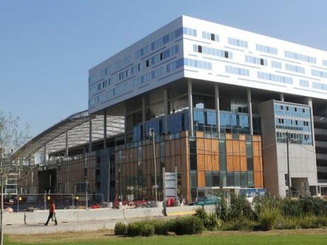 Le chantier de la Confluence, futur pôle commercial lyonnais - Photo LyonMag