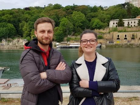 Guillaume et Mélanie, fondateurs de Co-Sportners - LyonMag