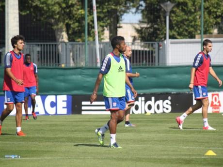 Cris, Aly Cissokho, Clément Grenier, Michel Bastos et Maxime Gonalons à l'entrainement - Photo Lyonmag.com