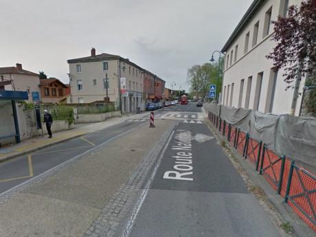 C'est sur la D386 à Condrieu que s'est produit le terrible accident - DR Google Street View